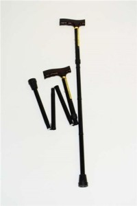 Fold Adjustable Cane with T Shaped Handle